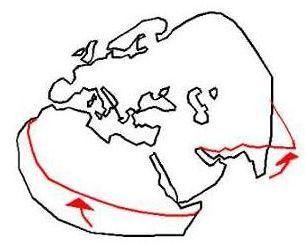 Рис 7 предполагаемый разворот карты